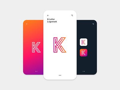 K Letter Concept typography logo k letter logo k company logo brand logo design abstract logo creative logo minimal typography flat letter logo illustration design vector branding logo