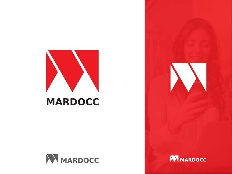 M Letter logo concept dribbble minimal flat icon ui ux vector illustration lettermark logo branding logo
