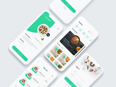 Food Delivery App Design food app ui creative app creative design sign in form sign in ui mobile app mobile ui restaurant app food app food minimal design dribbble ux ui clean ui design app design