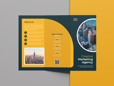 Tri-fold Brochure Design element print business brochure abstract brochure minimal brochure minimal modern brochure free brochure corporate brochure company brochure template brochure template brochure design brochure tri-fold brochure design logo branding vector dribbble