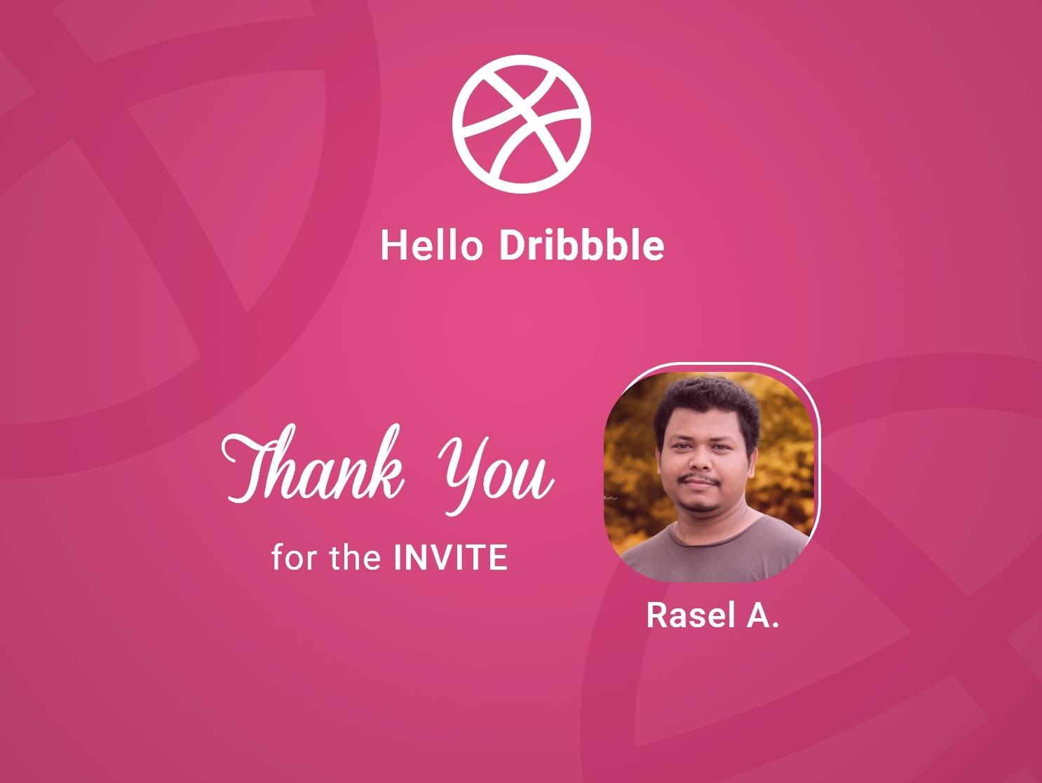 Thank you for dribbble invite ux ui design shot invitation hello dribbble