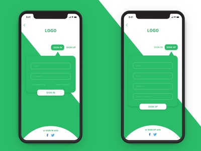 Sign in and Sign up UI