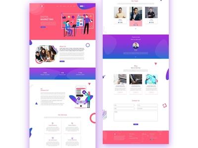 Digital Marketing Agency- web landing page