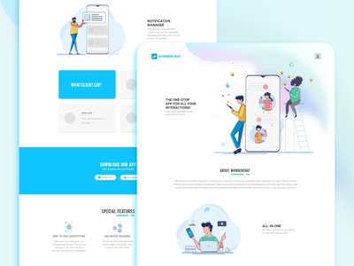Wunderchat - Messaging App Ui Design