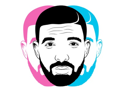 Drake black magenta cyan 3d illustration canada toronto 6 god one dance in my feelings gods plan jungle what a time to be alive care packcage scorpion more life views hotline bling champagnepapi drake