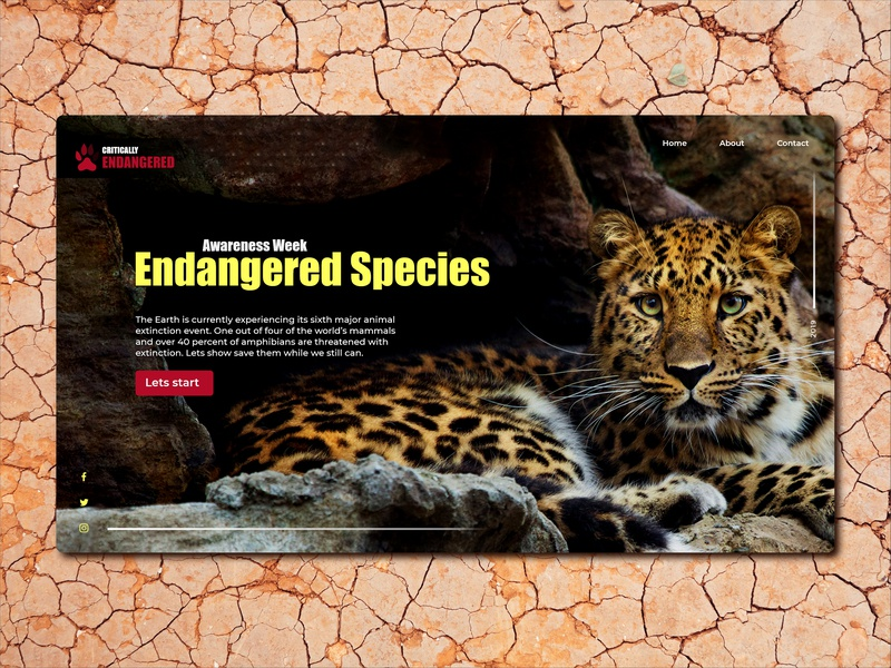 Endangered Species site home page