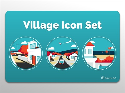 """Village"" Icon Set"