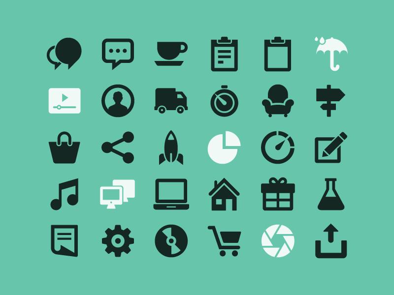 Free Glyphs free vector glyphs icons freebie