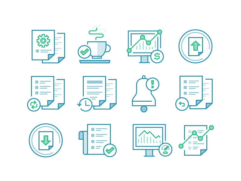 QFX Icons documents icons