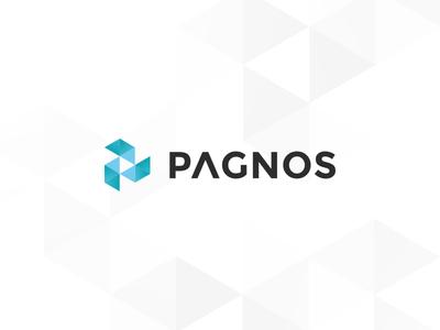 Logo triangles polygon logo pagnos