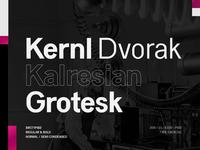 Kernl Font typedesign typeface typogaphy font design fonts experiment font type kernl