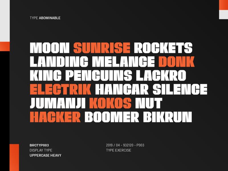 Abominable Type typogaphy experiment fontdesign font font design type typedesign typeface