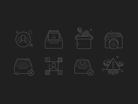 Hackaday App Icons line vector app mobile hackaday ui icons