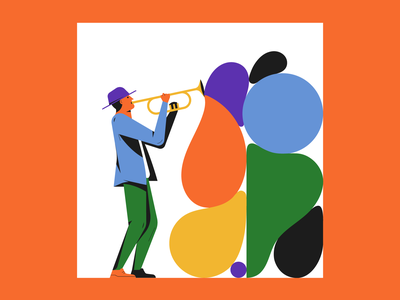 Colorful Music illustrator illustration