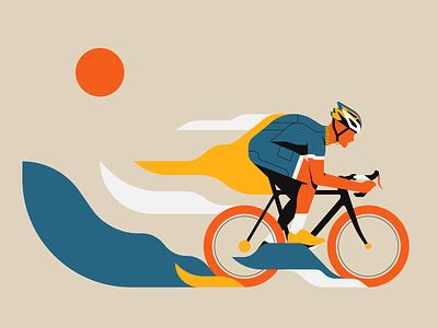 Ride Free cycling illustrator illustration