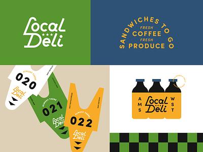Local Deli type typography badge logo design logo identity branding illustrator illustration