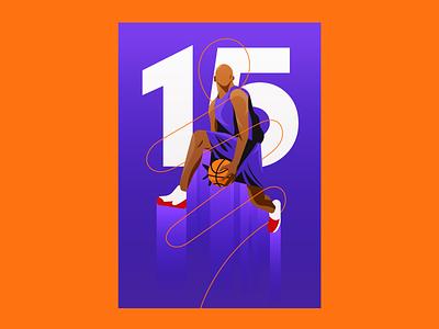 Vince Carter sports basketball nba illustrator illustration