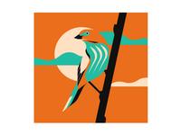 Chestnut-backed Tanager nature animal birds bird illustrator illustration