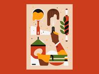 Baking graphic design food illustration food baking illustrator illustration