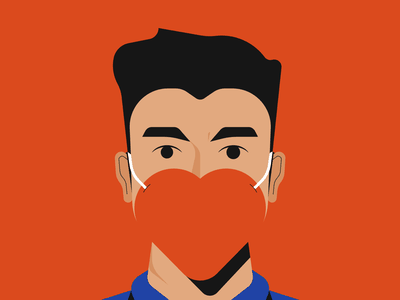 Mask illustrator illustration