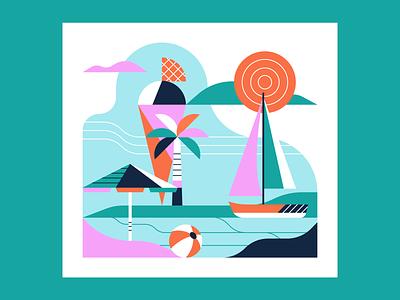 Summer Vibes illustrator illustration