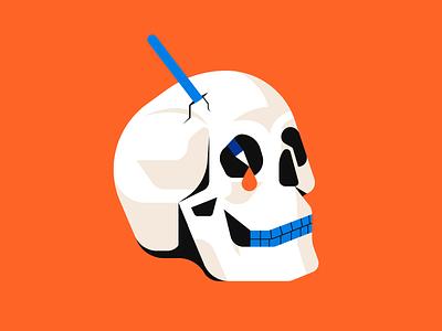Uninspired graphic design skull illustrator illustration
