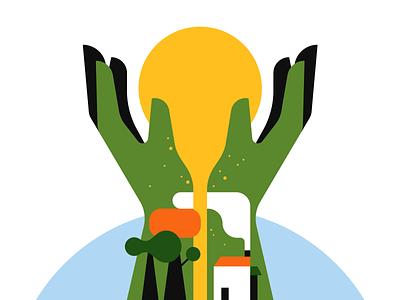 Suncatcher illustrator illustration