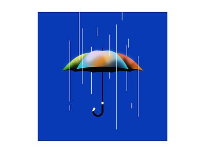 Umbrella illustrator illustration