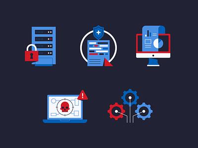 DNS Security spot illustration tech cybersecurity illustrator illustration