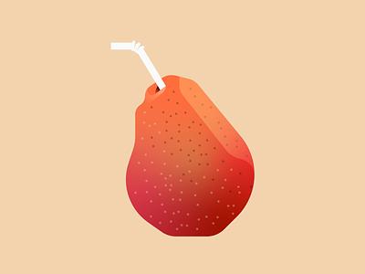 Pear Drink design fruit illustration fruit illustrator illustration