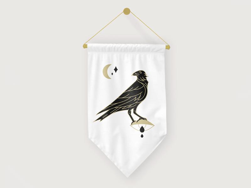 C d crow pennant dribbble 01