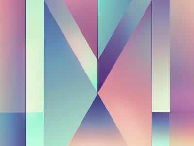 Typefight M gradient illustration lettering typefight m