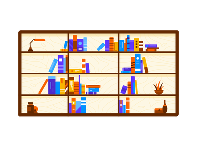 Libraries blog pattern sketch library illustration lamp bookshelf book