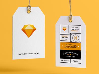Hang tag card hangtag typography illustration label tag hang sketch