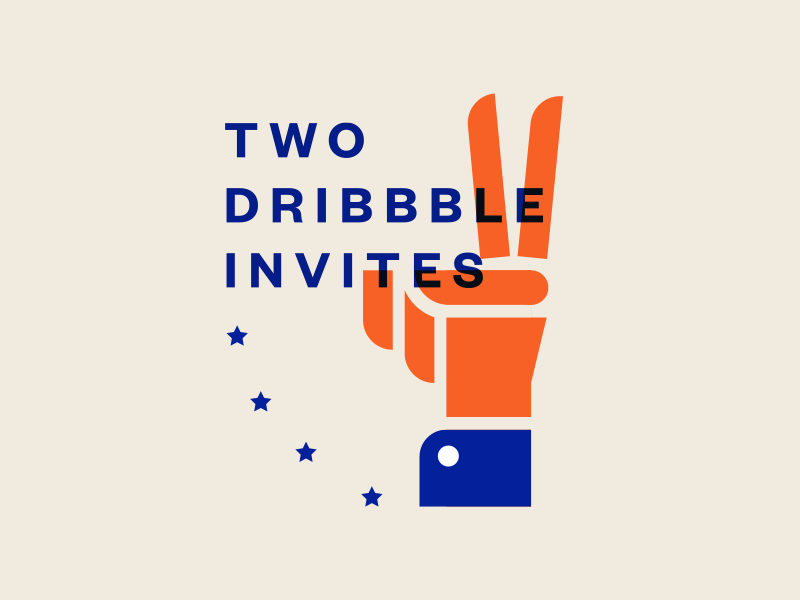 Dribbble Invites invite dribbble typography hand illustration