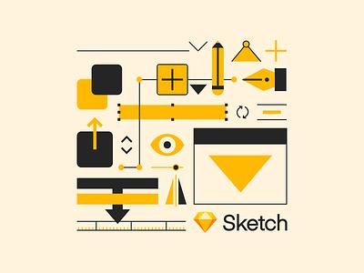 Sketch Tote Bag ui interface vector sketch illustration bag tote