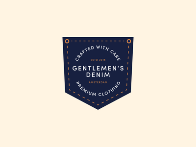 Gentlemen's Denim logo design clothing denim pocket badge identity branding logo typography type