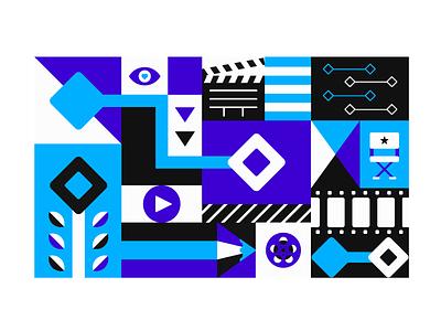Timeline direct play movie reel newsletter app anima timeline animation illustration