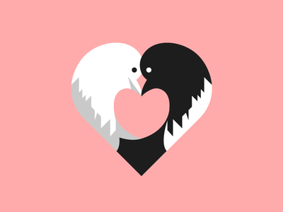 Lovebirds design intimacy affection illustration dove heart love birds bird