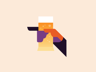 Cheers! summer beer illustration hand drink