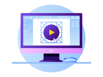 Designing 16px Icons In Sketch gradient arrow mouse monitor computer spot icons design illustration