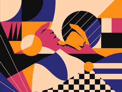 Pinky Swear design abstract pattern hand illustration