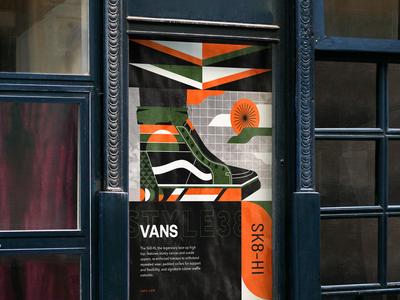 Vans Sk8-Hi Tribute Poster illustrator graphic design geometric abstract poster vans illustration