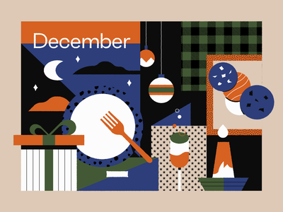 December texture pattern new years christmas holidays illustration
