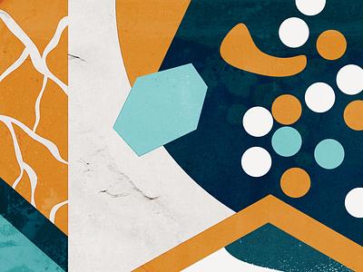The Rain Drops abstract texture pattern art illustration