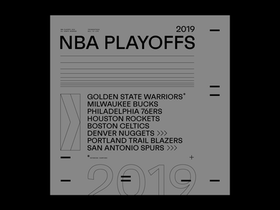 NBA Playoffs 2019 graphic design poster layout typography type basketball nba