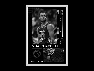 NBA Playoffs 2019 layout typography type print poster sports playoffs basketball nba
