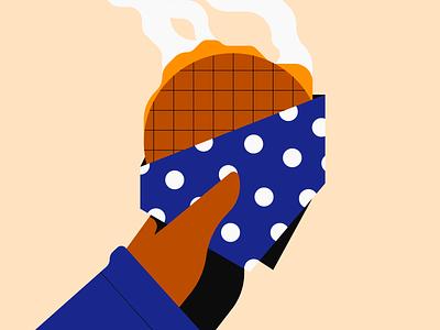 Stroopwafel illustrator illustration stroopwafel snack food