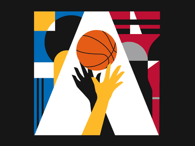 NBA Finals 2019 pattern illustrator illustration nba sport basketball