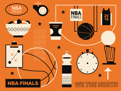 NBA Finals 2019 illustrator illustration sports basketball nba playoffs nba